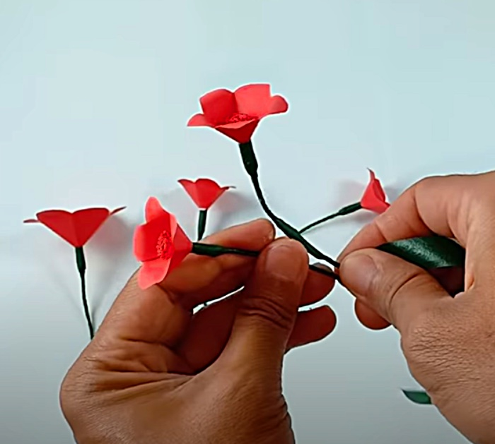 Make a paper flower wall hanging