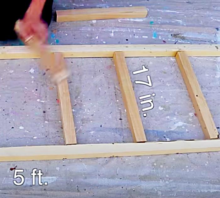 Make a blanket ladder with Home Depot wood for 9 dollars
