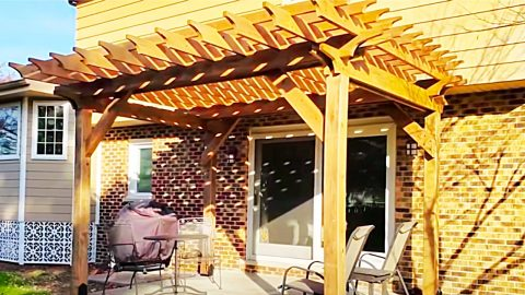 How To Build A Pergola On A Cement Patio | DIY Joy Projects and Crafts Ideas
