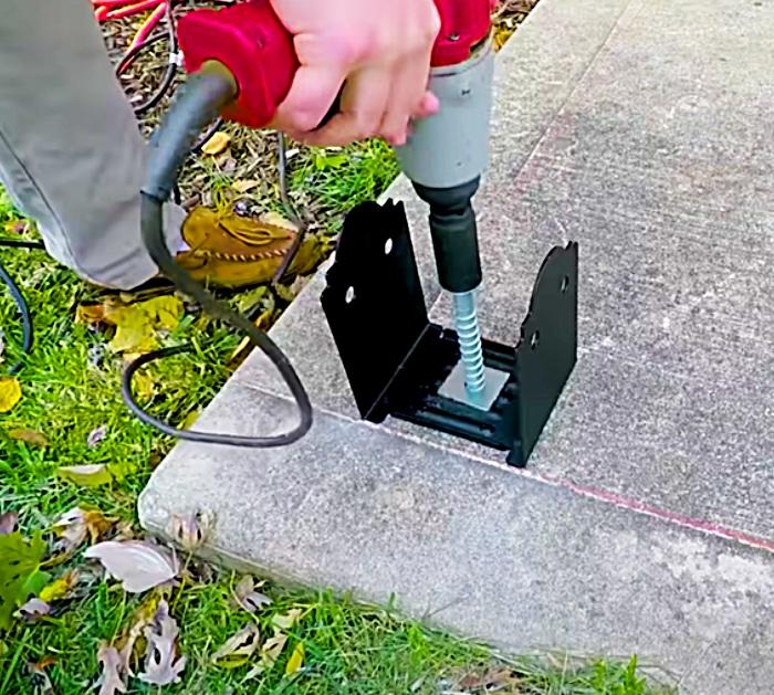 Build a DIY pergola on a concrete slab