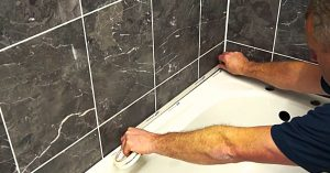 How To Apply Silicone Caulk To Tile Or Bath