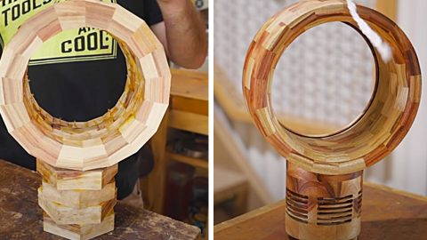 How To Make A Bladeless Wooden Fan From Scrap Wood | DIY Joy Projects and Crafts Ideas