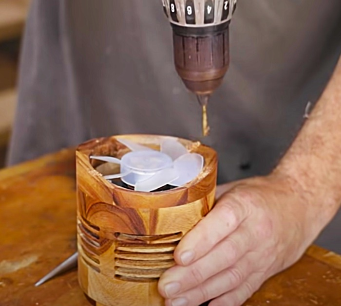 Make a motor for a bladeless wooden fan