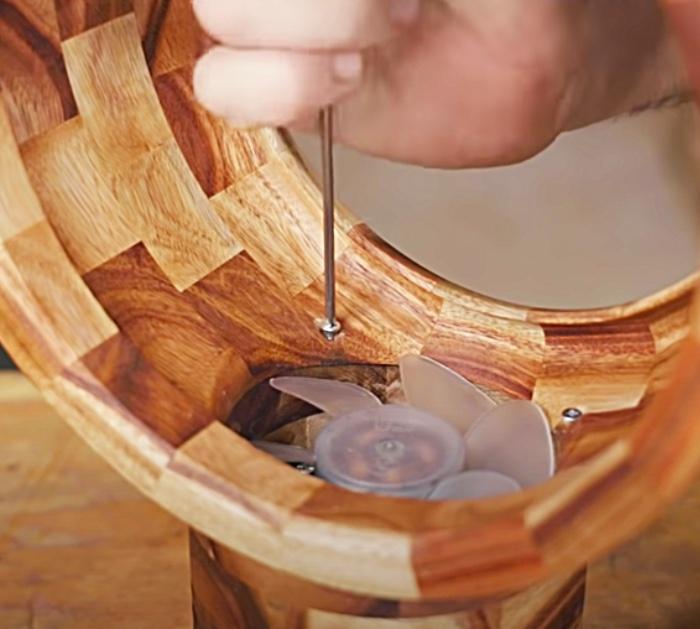 Aero dynamic wooden fan without blades