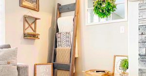 How To Make A $9 Farmhouse Blanket Ladder