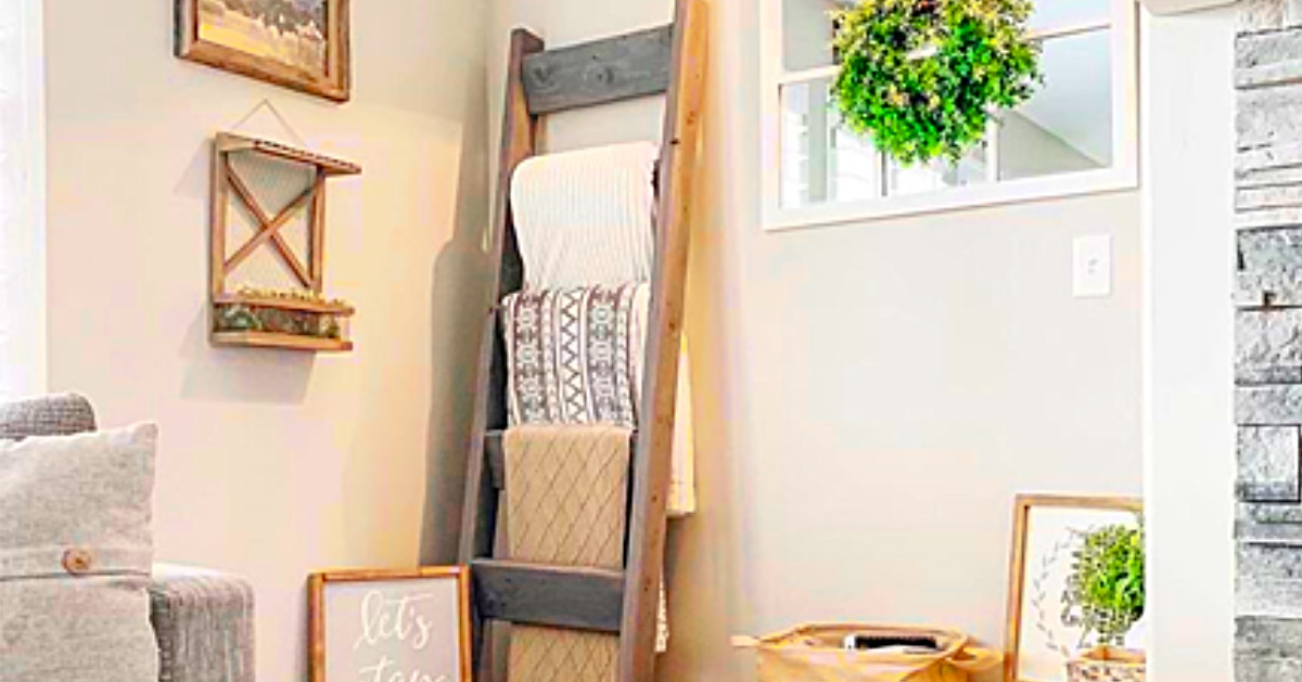 How To Make A 9 Farmhouse Blanket Ladder