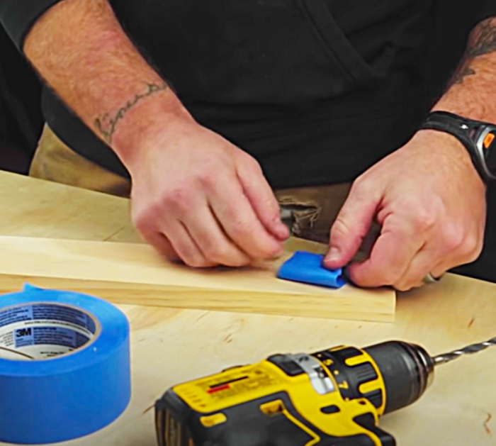Blue painter's masking tape to use for woodworking