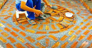 How To Build A Brick-Art Garden Feature