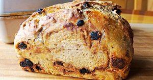No-Knead Cinnamon Raisin Bread Recipe