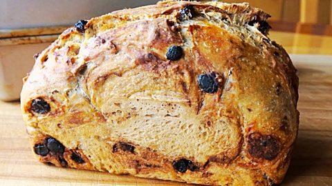 No-Knead Cinnamon Raisin Bread Recipe   DIY Joy Projects and Crafts Ideas