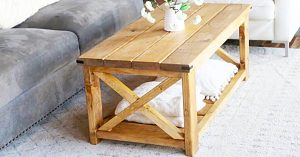 How To Make A $40 Farmhouse Coffee Table