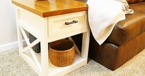 How To Make A Farmhouse End Table