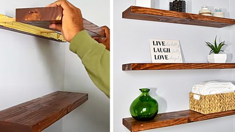 How To Build Floating Shelves | DIY Joy Projects and Crafts Ideas