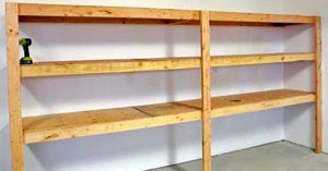 How To Make Simple Garage Shelving