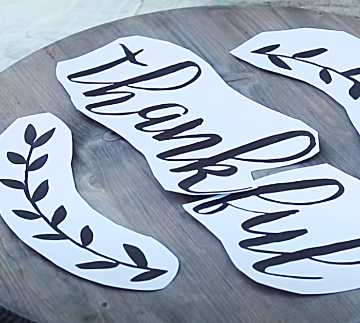 Download a free font to make letters for a hand painted lazy susan
