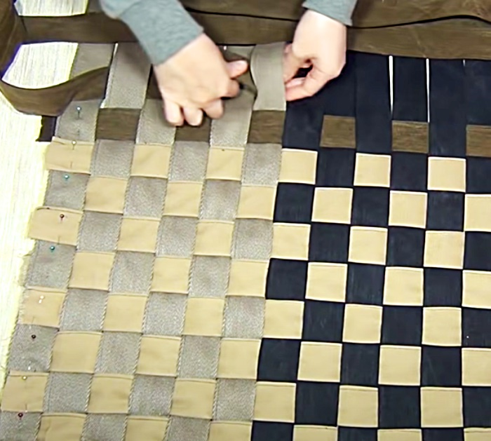 Turn Old Pants Into Woven Carpet