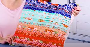 Faux Pleated Pillow Using A Jelly Roll