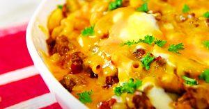 Cheesy Macaroni Hamburger Casserole Recipe