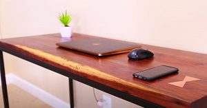 How To Make A Modern Desk With A Wireless Charging Bay