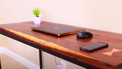 How To Make A Modern Desk With A Wireless Charging Bay | DIY Joy Projects and Crafts Ideas