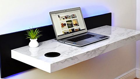 How To Make A Modern Wall-Mounted Desk   DIY Joy Projects and Crafts Ideas