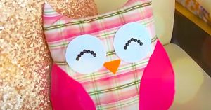 How To Make An Owl Pillow From An Old Shirt