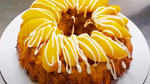 Peach Cobbler Pound Cake Recipe | DIY Joy Projects and Crafts Ideas