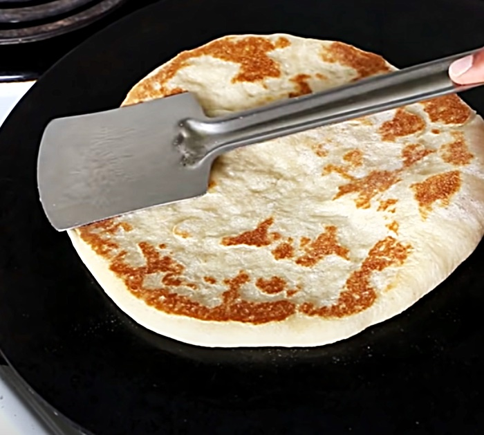 Make pita pockets from scratch in a skillet