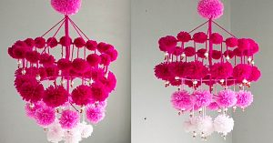 How To Make A Pom-Pom Chandelier