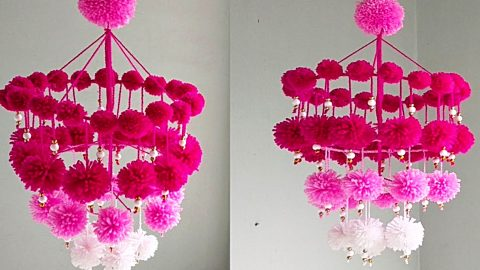 How To Make A Pom-Pom Chandelier | DIY Joy Projects and Crafts Ideas