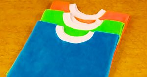 Turn Towels Into Pullover Baby Bibs