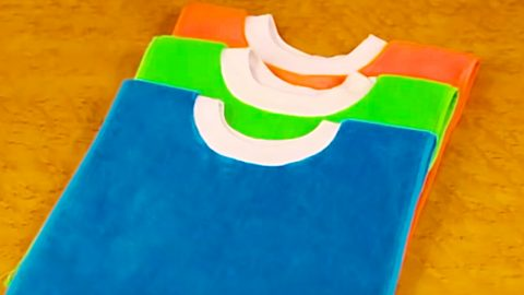 Turn Towels Into Pullover Baby Bibs   DIY Joy Projects and Crafts Ideas