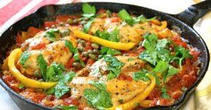 One-Pan Roman-Style Chicken Breasts Recipe