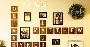 How To Make Scrabble Letter Wall Decor
