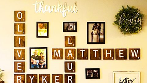 How To Make Scrabble Letter Wall Decor | DIY Joy Projects and Crafts Ideas