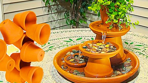 How To Make A Terracotta Fountain | DIY Joy Projects and Crafts Ideas
