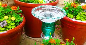 How To Make An Upcycled Thrift Store Birdbath