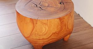 How To Make An End Table From A Tree Stump