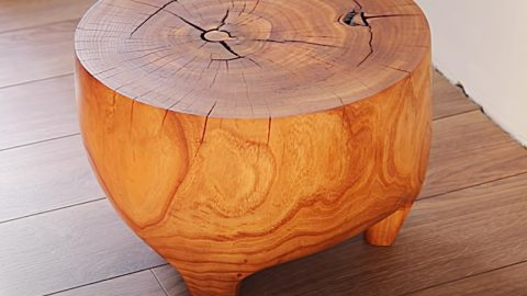 How To Make An End Table From A Tree Stump | DIY Joy Projects and Crafts Ideas