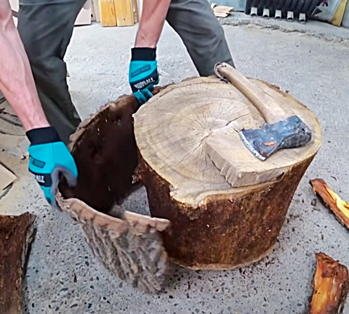 Tree stump table tutorial