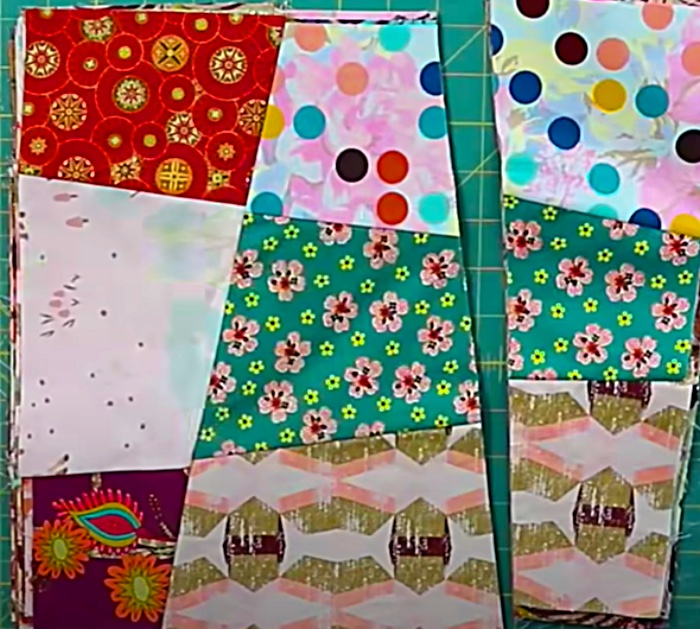 Scrap buster quilt idea with free pattern