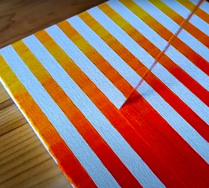 How To Abstract Landscape Paint Using Masking Tape | DIY Project