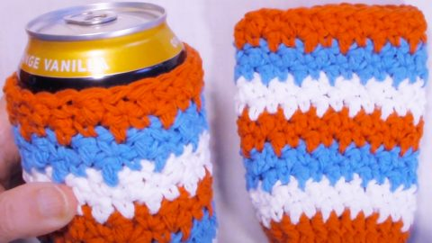 How To Crochet A Can Cozy | DIY Joy Projects and Crafts Ideas