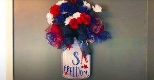 DIY Fourth of July Mason Jar Wreath