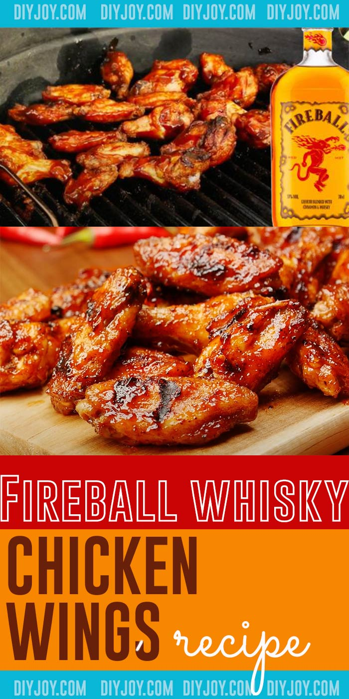 Easy Appetizer Recipes - How to Make Chicken Wings - Fireball Whisky Chicken Wing Recipe