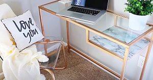 $40 IKEA Desk Idea