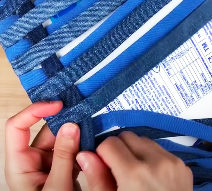 DIY Old Jeans and Plastic Bucket Idea | DIY Crafts