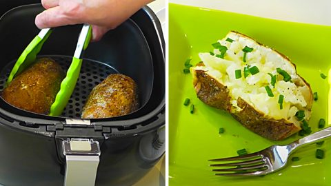 Air Fryer Steakhouse Baked Potato Recipe | DIY Joy Projects and Crafts Ideas