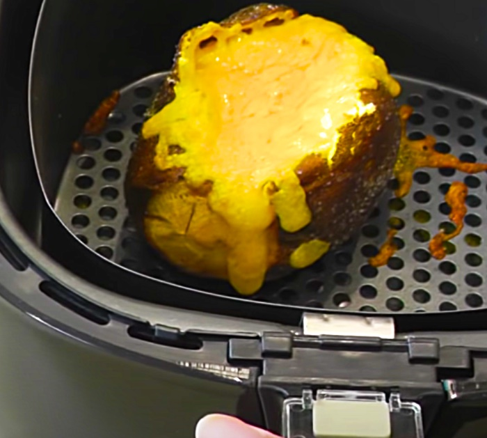 Bake Cheese Inside A An Air Fryer Baked Potato