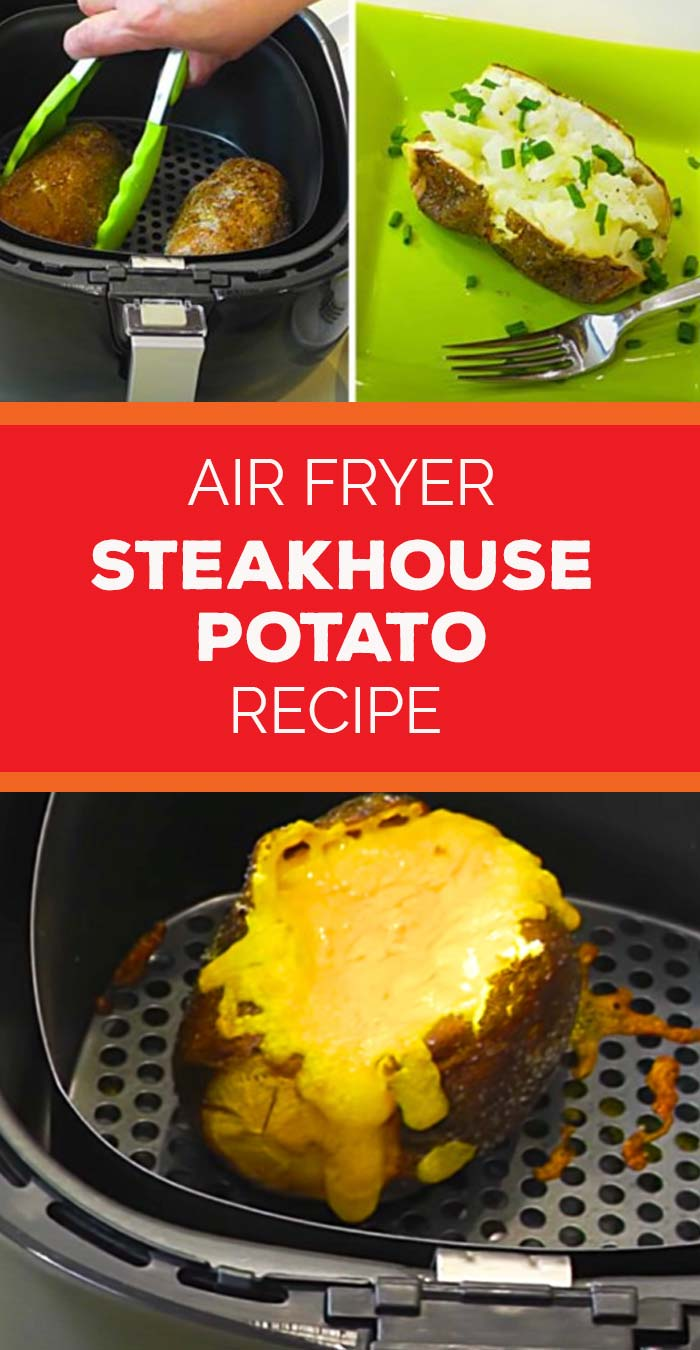 Air Fryer Recipes Easy - How to Make a Steakhouse Baked Potato In An Air Fryer